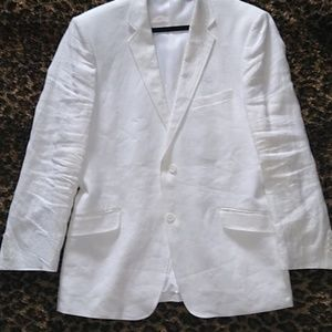 White Men's Linen Blazer